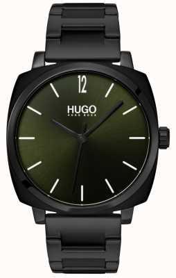 HUGO #own | zwarte ip armband | zwarte wijzerplaat 1530081