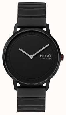 HUGO #echo | zwarte ip armband | zwarte wijzerplaat 1520020