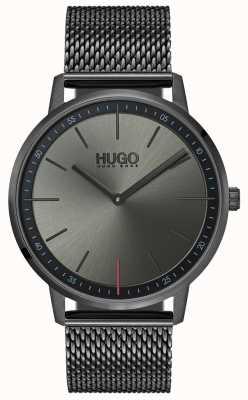 HUGO #bestaan | grijs ip mesh | grijze wijzerplaat 1520012