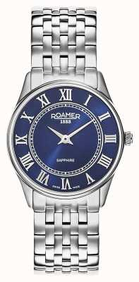 Roamer | vrouwen | sonate | roestvrijstalen armband | blauwe wijzerplaat | 520820 41 45 50