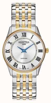 Roamer | dames | sonate | tweekleurige armband | zilveren wijzerplaat | 520820 47 15 50
