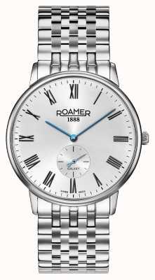 Roamer | heren elementen | roestvrij zilveren armband | zwarte wijzerplaat | 650810 41 55 50