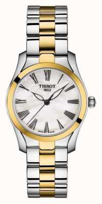 Tissot | t-wave | tweekleurige armband voor dames | parelmoer wijzerplaat | T1122102211300