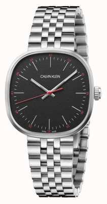 Calvin Klein | heren | vierkant | roestvrij stalen armband | zwarte wijzerplaat | K9Q12131