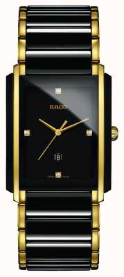 Rado Integraal diamanten high-tech keramisch zwart vierkant horloge R20204712