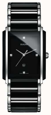 Rado Integraal diamanten high-tech keramisch zwart vierkant horloge R20206712