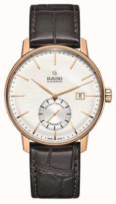 Rado Klassiek automatisch horloge met bruine lederen band, Coupole R22881025
