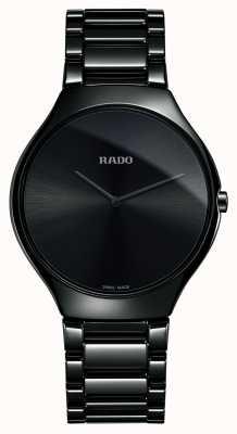Rado Echte dunne lijn high-tech keramische zwarte wijzerplaat horloge R27741182