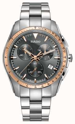 Rado XXL hyperchrome chronograaf roestvrij staal grijze wijzerplaat horloge R32259163
