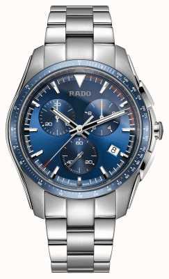 Rado | xxl hyperchrome chronograaf | roestvrij staal | blauwe wijzerplaat | R32259203