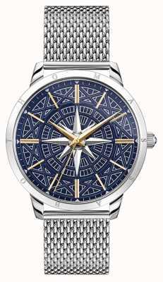 Thomas Sabo | mannen rebellengeest kompas | blauwe wijzerplaat | armband van mesh | WA0350-201-209-42