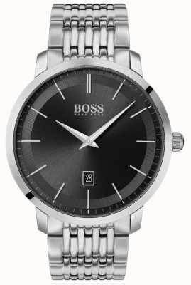 Boss | premium heren klassiek | roestvrij staal | zwarte wijzerplaat | 1513746