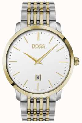 Boss | heren | premium klassiek | tweetonig | zilveren wijzerplaat | 1513747