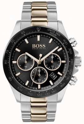 BOSS | heren | hero sport lux | tweekleurige armband | zwarte wijzerplaat | 1513757