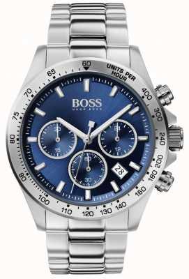 BOSS heren held sport lux | stalen armband | blauwe wijzerplaat | 1513755