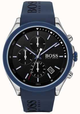 BOSS | snelheid heren blauwe rubberen band | zwarte wijzerplaat | 1513717