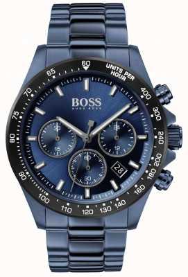BOSS heren | held sport lux | blauwe stalen armband | blauwe wijzerplaat | 1513758