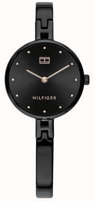 Tommy Hilfiger Kit | zwarte ip roestvrijstalen armband | zwarte wijzerplaat 1782136