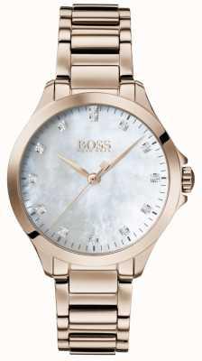 BOSS | diamanten voor haar | rose goud | parelmoer | 1502523
