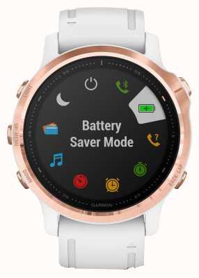 Garmin Fenix 6s pro gorilla glas | multisport smartwatch | rosé gouden witte band 010-02159-11