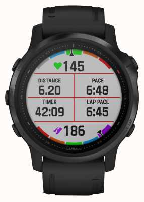 Garmin Fenix 6s pro gorilla glas | multisport smartwatch | zwarte rubberen band 010-02159-14