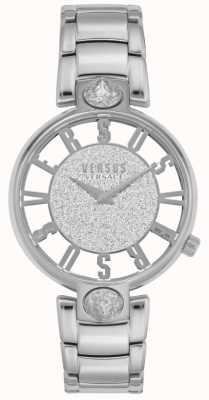 Versus Versace | dames kirstenhof | zilveren stalen armband | glitter wijzerplaat VSP491319