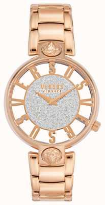 Versus Versace | dames kirstenhof | rosé gouden armband | glitter wijzerplaat | VSP491519