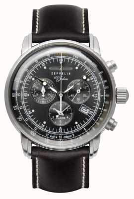 Zeppelin   serie 100 jaar   chronograaf datum   leer 7690-2