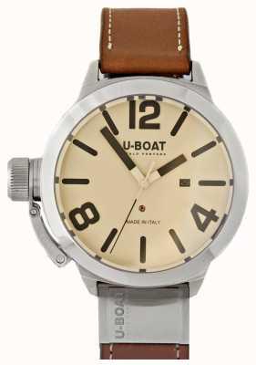 U-Boat Classico 50 wolfraam als 2 crème wijzerplaat 8091