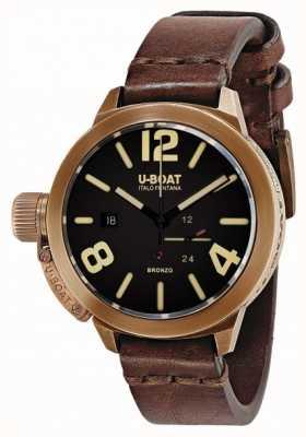 U-Boat Classico 50 bronzo een bruine band 8104