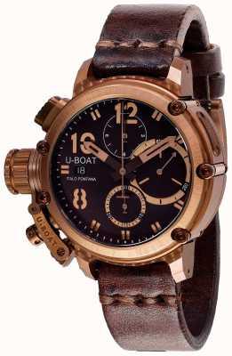 U-Boat Chimera chrono 43mm bronzen bruine band 8014