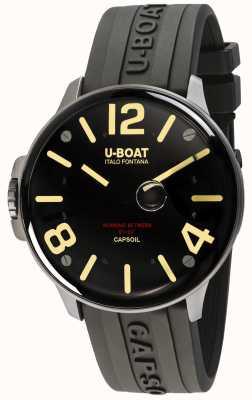 U-Boat Capsoil ss elektromechanica | zwarte rubberen band 8110/A