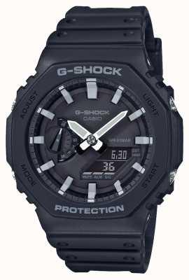 Casio | g-shock koolstofkern | achthoek serie | zwarte kunststof band | GA-2100-1AER