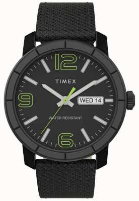 Timex | heren mod 44mm | zwarte nylon band | zwarte wijzerplaat | TW2T72500
