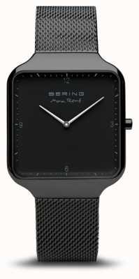 Bering | max rené | zwarte stalen gaas armband | zwarte wijzerplaat | 15836-123
