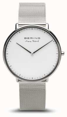 Bering   max rené   heren gepolijst zilver   zilveren mesh armband   15738-004