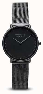 Bering | max rené | damesmat zwart | zwarte stalen gaasarmband | 15730-123