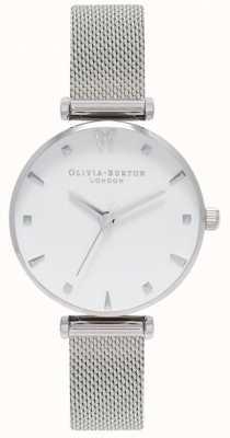 Olivia Burton   dames   sociale vlinder   witte wijzerplaat   mesh armband OB16MB12