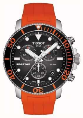 Tissot | seastar 1000 chronograaf | oranje riem | 300m T1204171705101