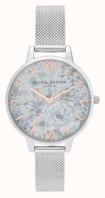 Olivia Burton | dames | terrazzo bloemen | zilveren mesh armband | OB16TZ06
