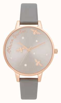 Olivia Burton | dames | parelachtige koningin | london grey vegan lederen band | OB16PQ03