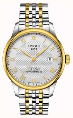 Tissot le locle powermatic 80 | tweekleurige roestvrijstalen armband T0064072203301