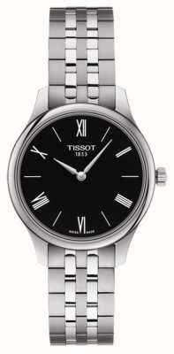 Tissot | traditie van vrouwen | roestvrij stalen armband | zwarte wijzerplaat T0632091105800