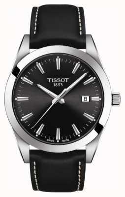 Tissot Meneer | zwarte lederen band | zwarte wijzerplaat | T1274101605100