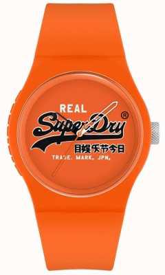 Superdry Stedelijke origineel | oranje siliconen band | oranje wijzerplaat | SYG280OB