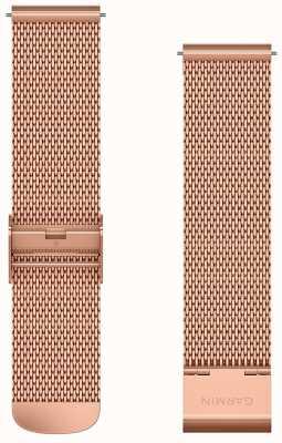 Garmin Quick release band, rosé gouden milanese band met 18k rose go 010-12924-24