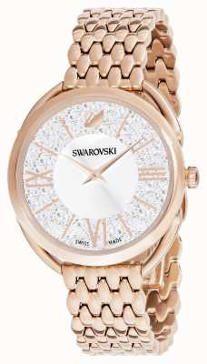 Swarovski | kristallijne glam | rosé vergulde armband | zilveren wijzerplaat 5452465