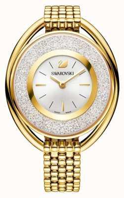 Swarovski Kristallijn   ovaal   gouden pvd armband   zilveren wijzerplaat 5200339
