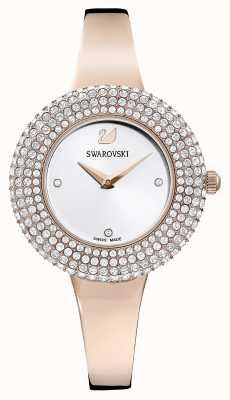 Swarovski | kristal roos | rosé goudkleurige armband | zilveren wijzerplaat | 5484073