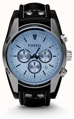 Fossil Heren blauwe wijzerplaat chronograaf horloge CH2564